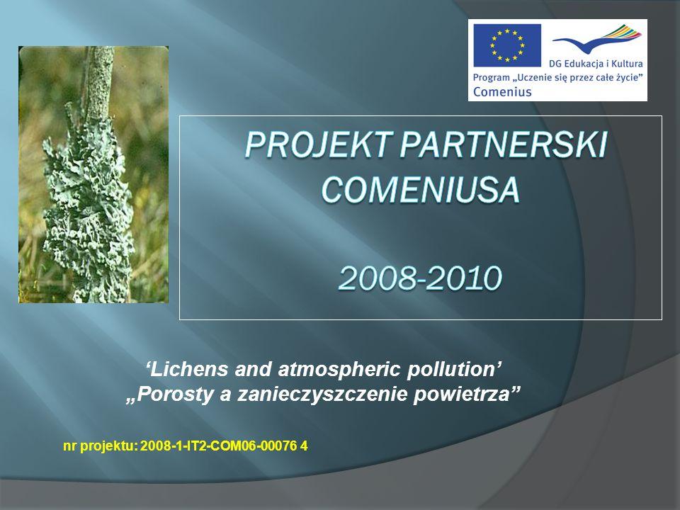 Projekt Partnerski Comeniusa 2008-2010