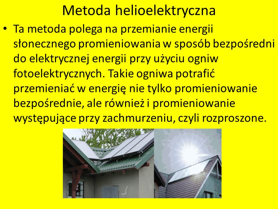 Metoda helioelektryczna