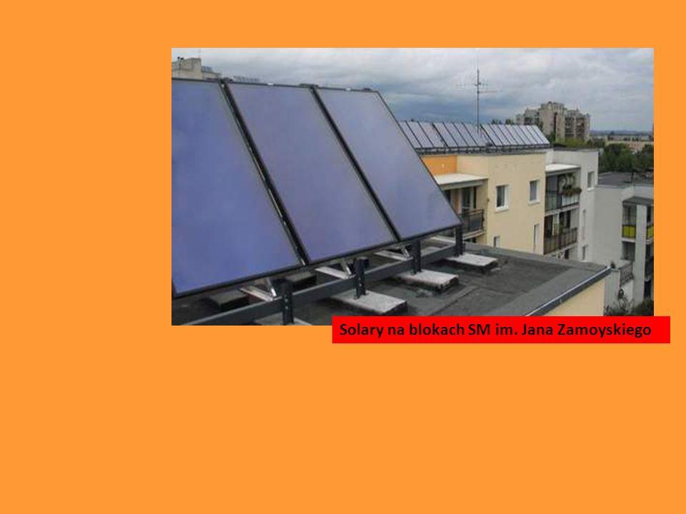 Solary na blokach SM im. Jana Zamoyskiego