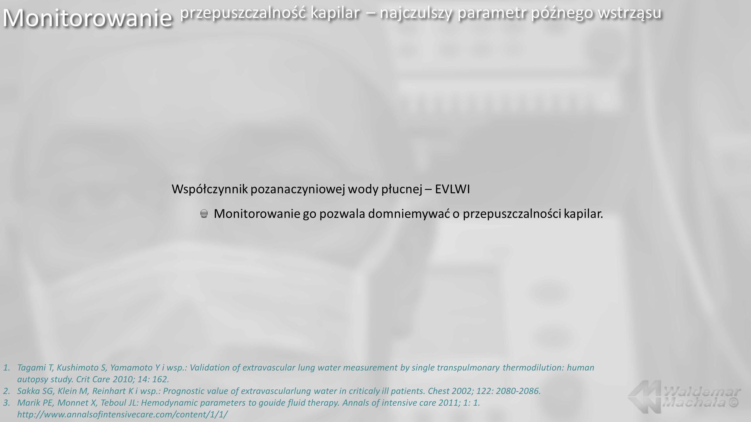 Monitorowanie przepuszczalność kapilar – najczulszy parametr późnego wstrząsu