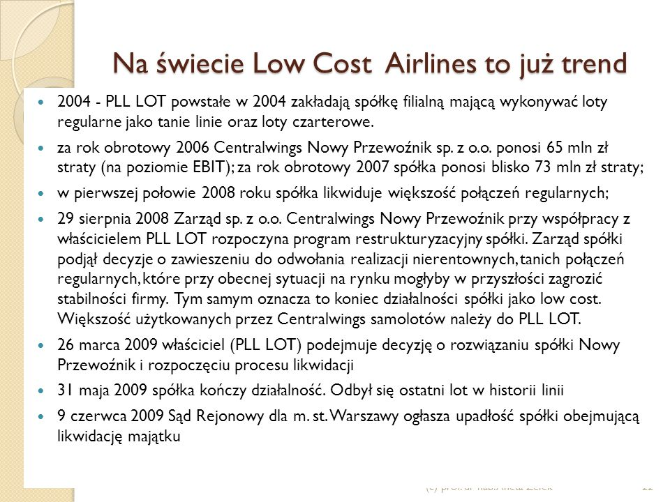 Na świecie Low Cost Airlines to już trend