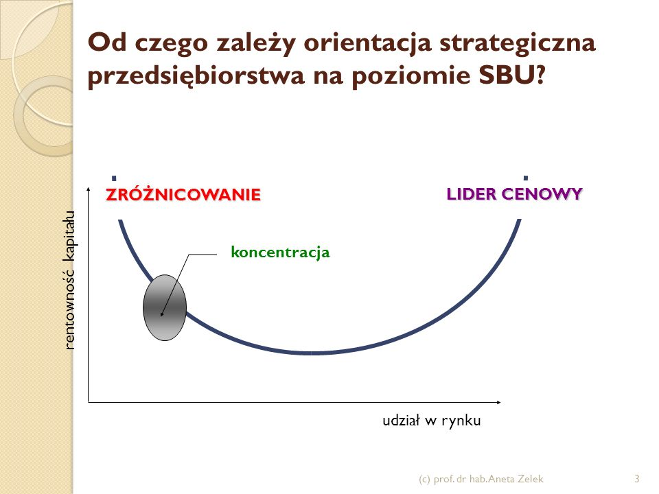 Od czego zależy orientacja strategiczna przedsiębiorstwa na poziomie SBU