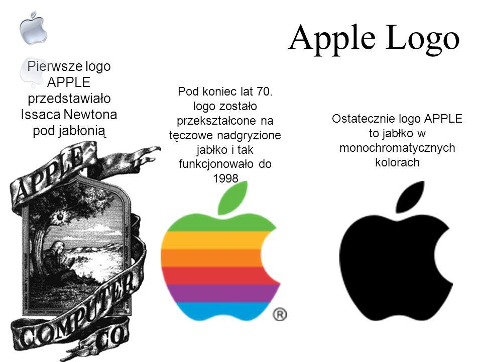 Apple Logo Pierwsze logo APPLE przedstawiało Issaca Newtona pod jabłonią.