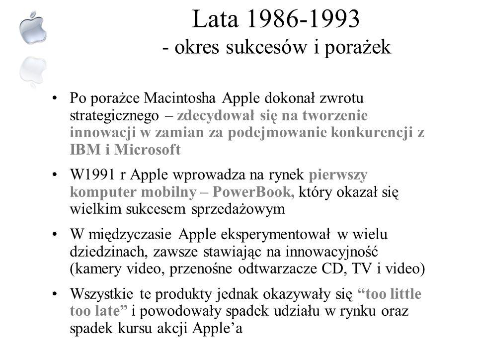 Lata 1986-1993 - okres sukcesów i porażek