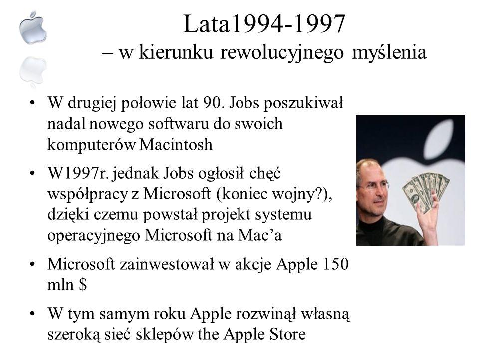 Lata1994-1997 – w kierunku rewolucyjnego myślenia