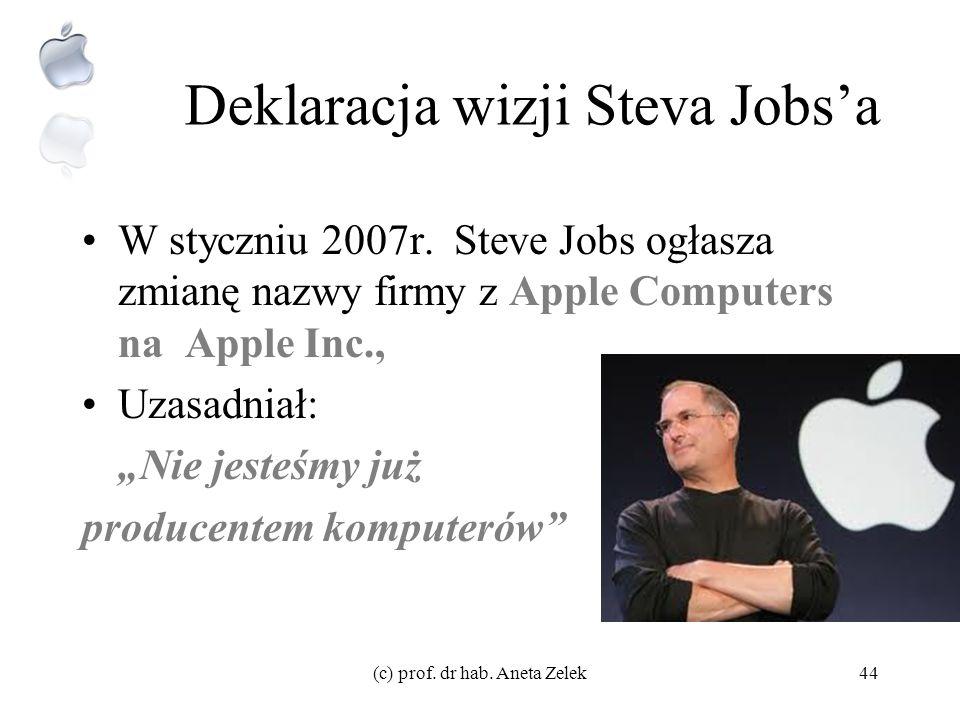 Deklaracja wizji Steva Jobs'a