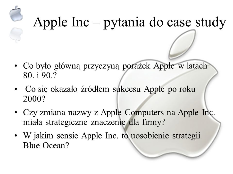Apple Inc – pytania do case study