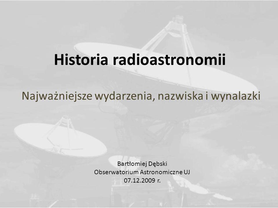 Historia radioastronomii