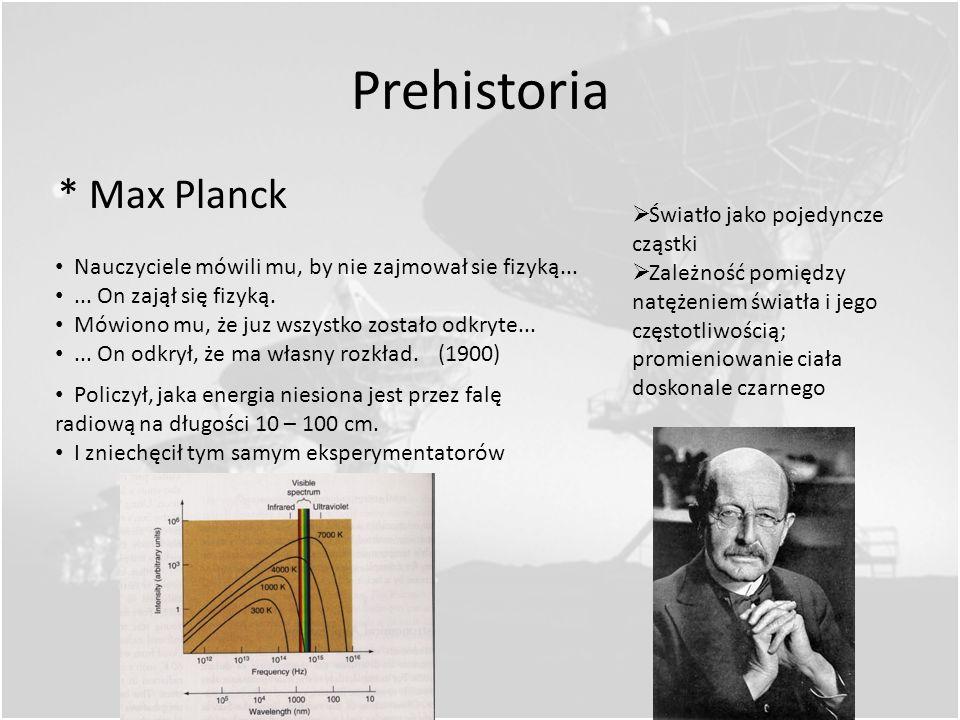 Prehistoria * Max Planck Światło jako pojedyncze cząstki