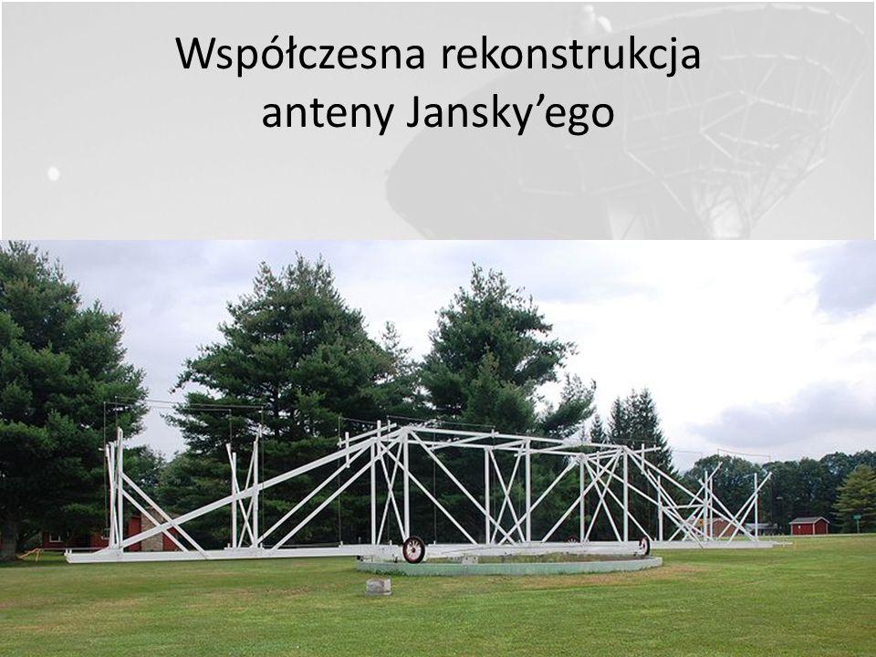 Współczesna rekonstrukcja anteny Jansky'ego