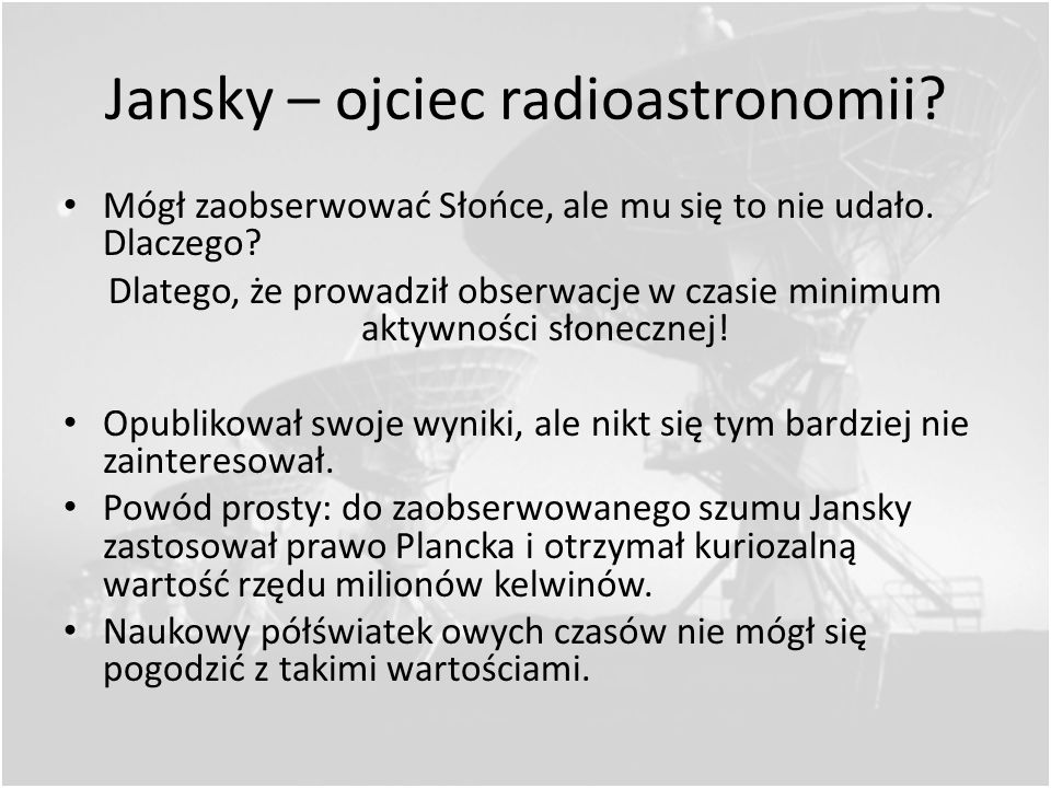 Jansky – ojciec radioastronomii