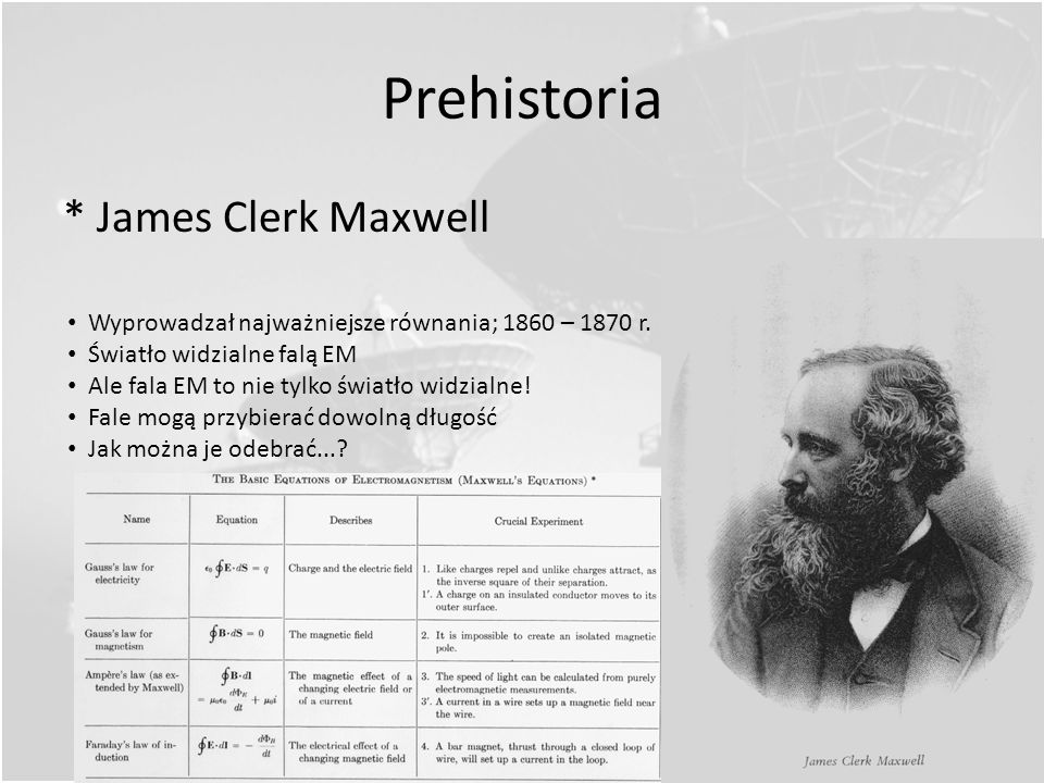 Prehistoria * James Clerk Maxwell