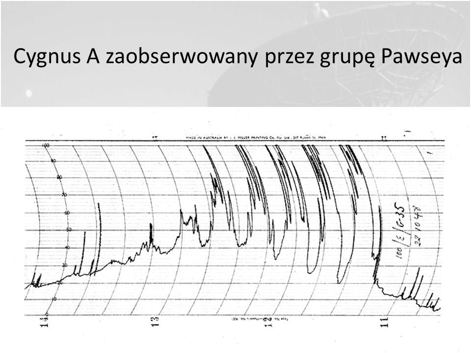 Cygnus A zaobserwowany przez grupę Pawseya