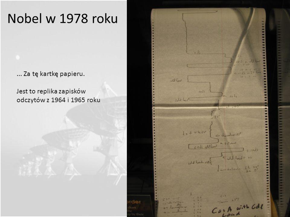 Nobel w 1978 roku ... Za tę kartkę papieru.
