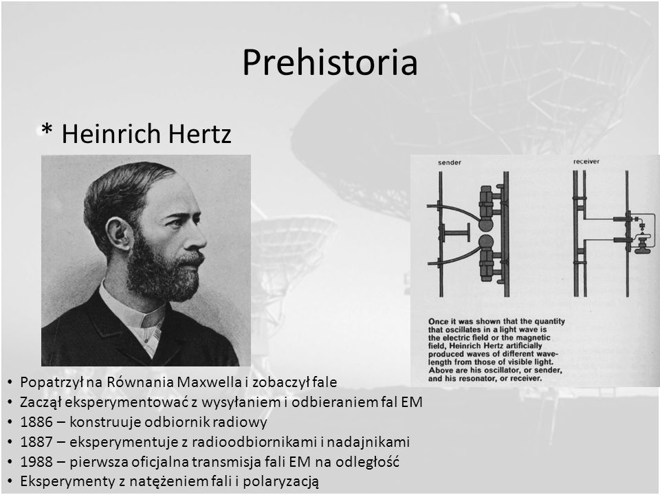 Prehistoria * Heinrich Hertz