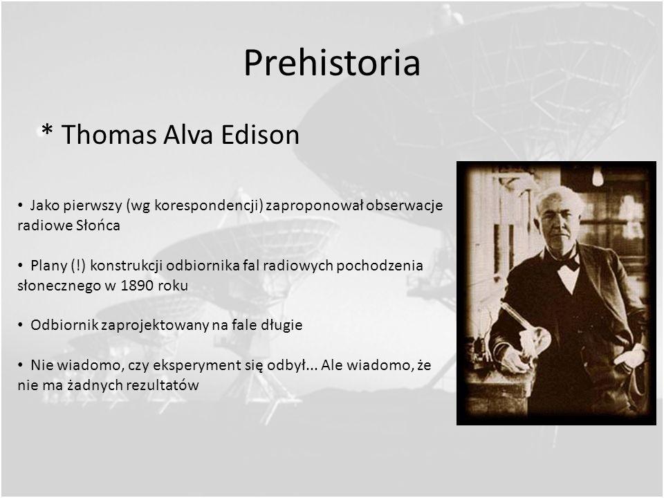 Prehistoria * Thomas Alva Edison