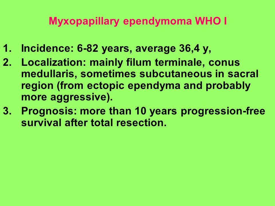 Myxopapillary ependymoma WHO I