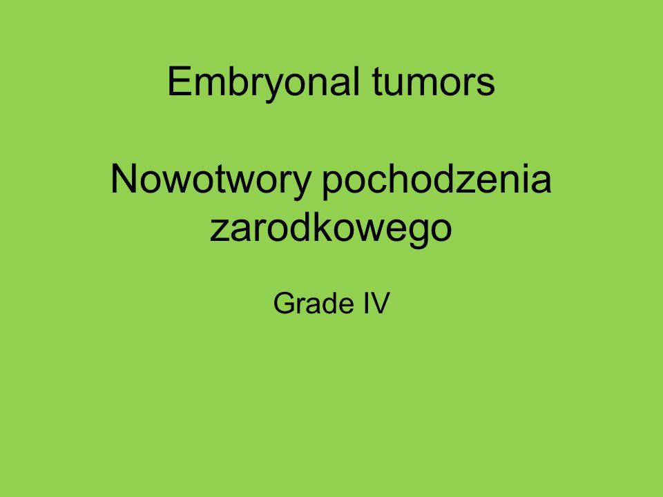 Embryonal tumors Nowotwory pochodzenia zarodkowego