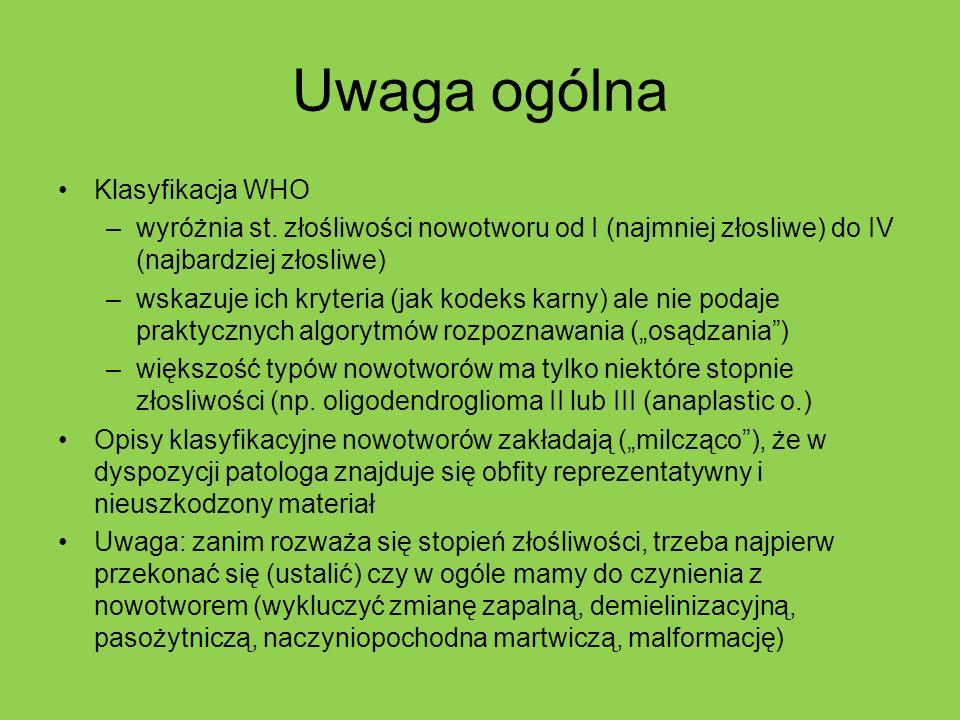 Uwaga ogólna Klasyfikacja WHO