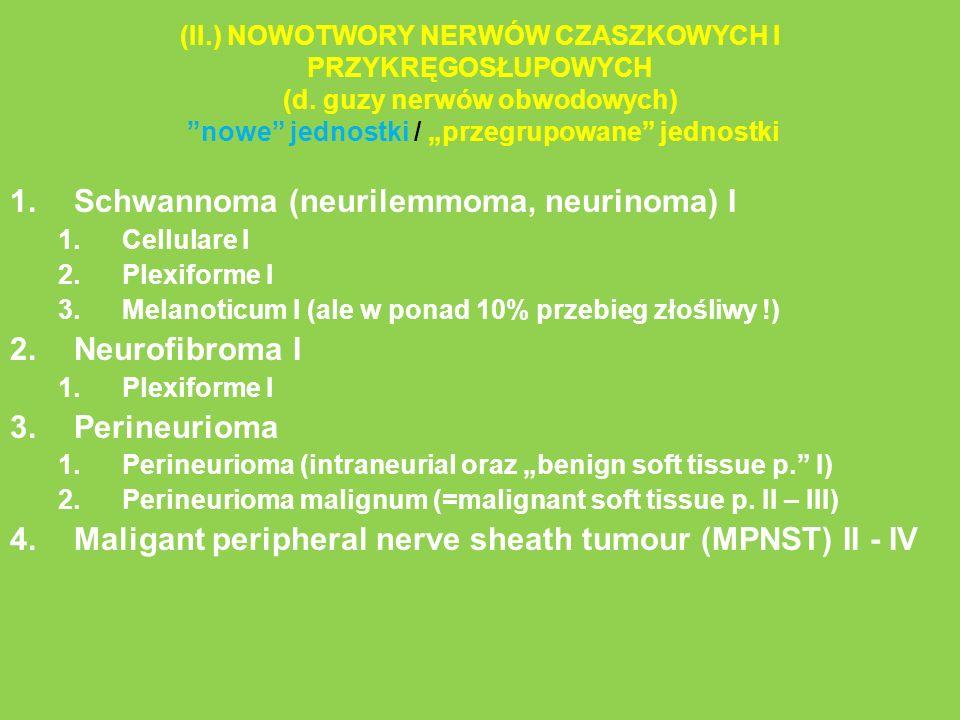 Schwannoma (neurilemmoma, neurinoma) I