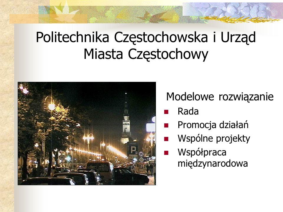 Politechnika Częstochowska i Urząd Miasta Częstochowy
