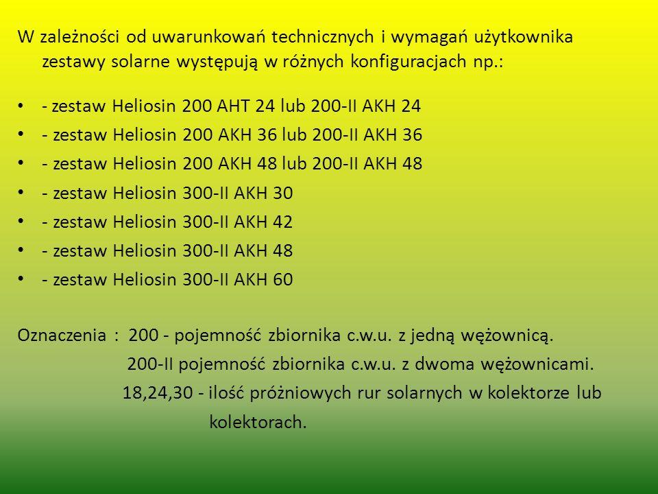 - zestaw Heliosin 200 AKH 36 lub 200-II AKH 36