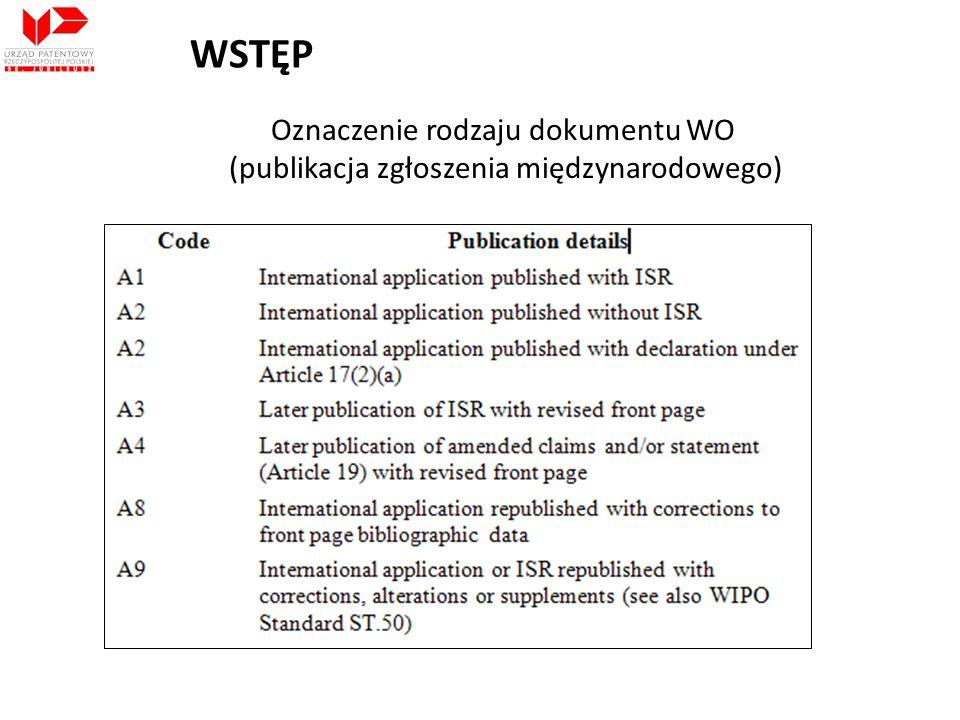 WSTĘP Oznaczenie rodzaju dokumentu WO