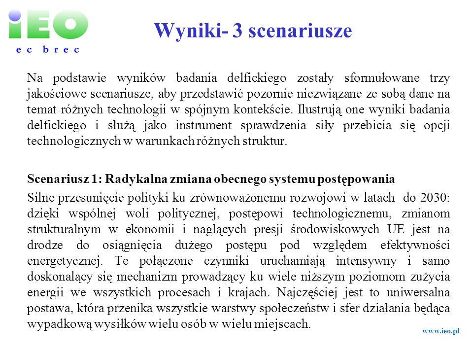 Wyniki- 3 scenariusze