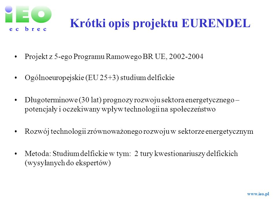 Krótki opis projektu EURENDEL