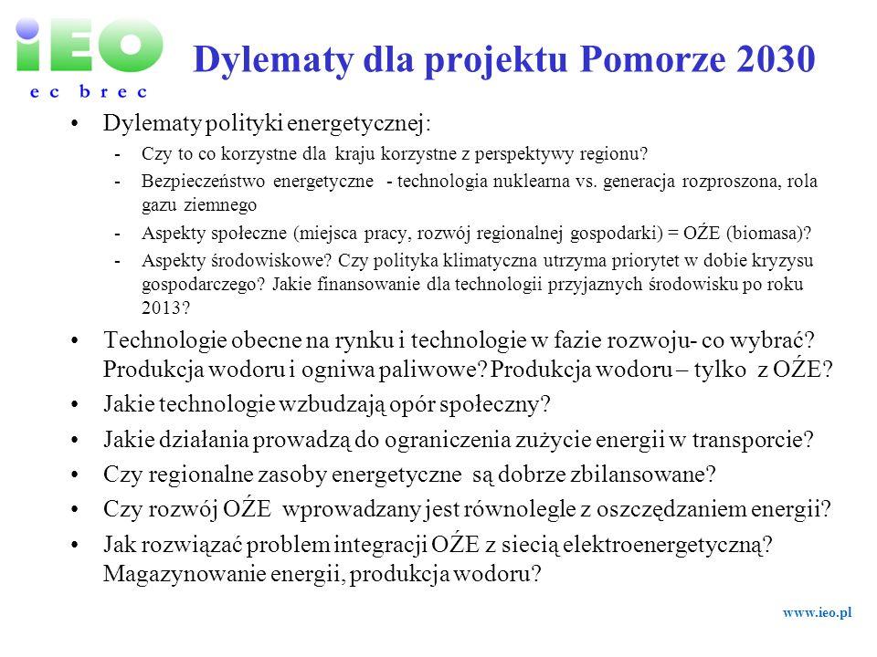Dylematy dla projektu Pomorze 2030