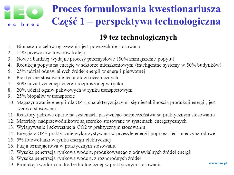 Proces formułowania kwestionariusza Część 1 – perspektywa technologiczna