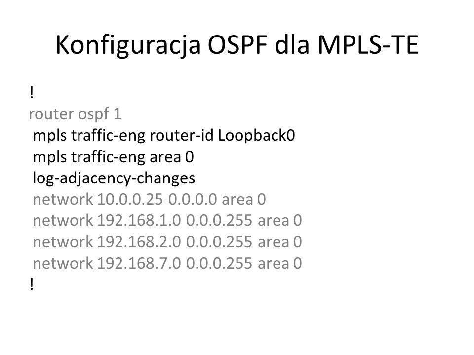 Konfiguracja OSPF dla MPLS-TE