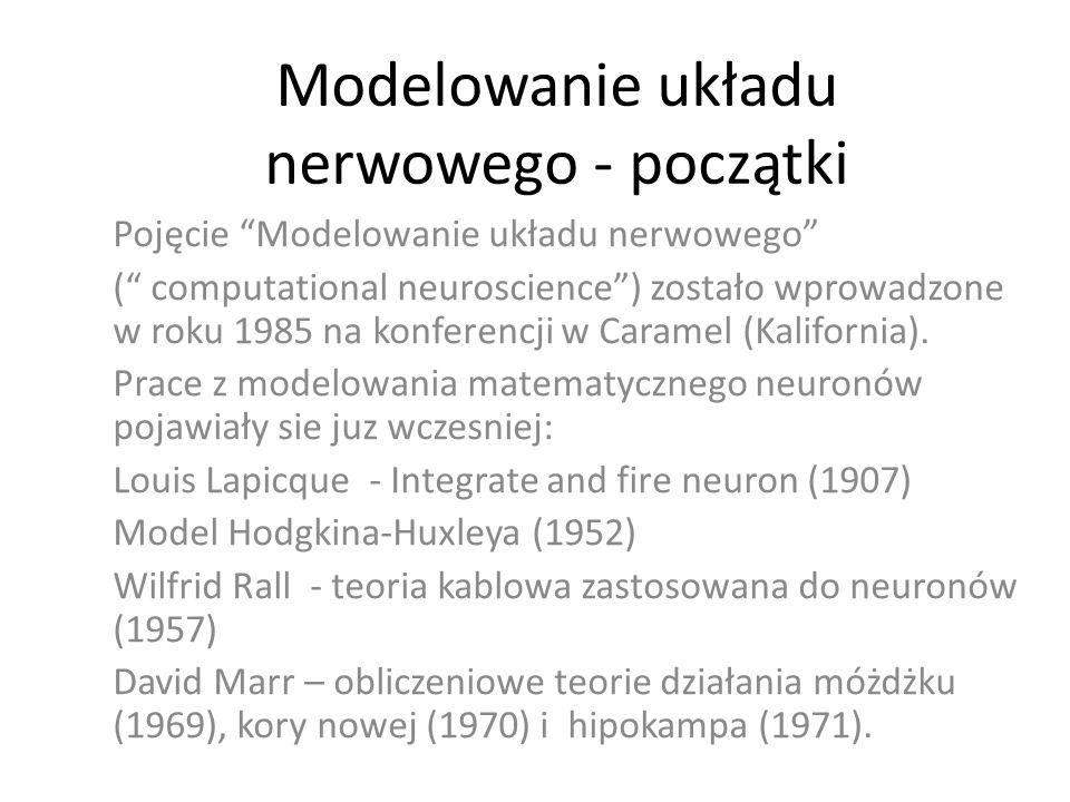Modelowanie układu nerwowego - początki