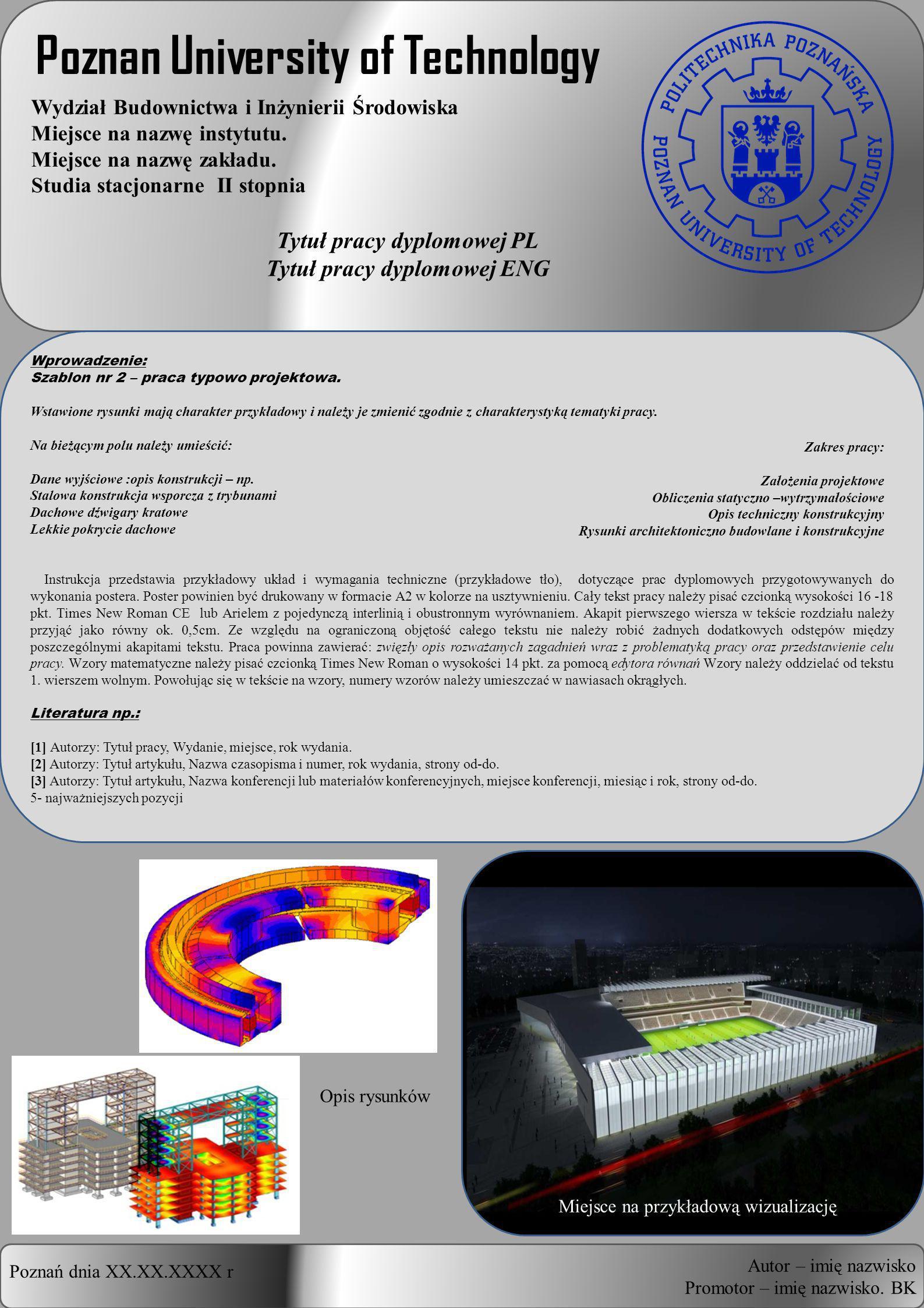Tytuł pracy inżynierskiej PL Tytuł pracy inżynierskiej ENG