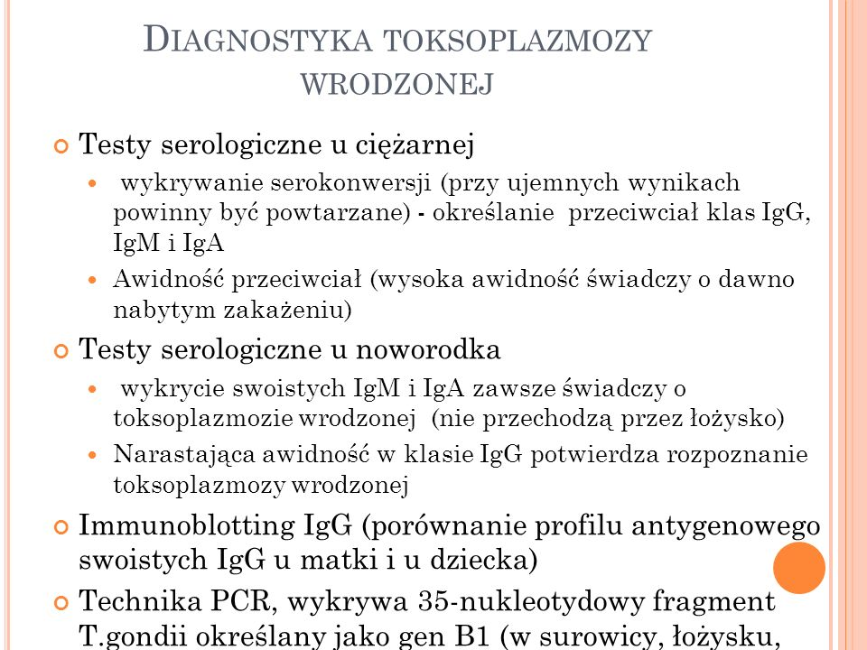 Diagnostyka toksoplazmozy wrodzonej