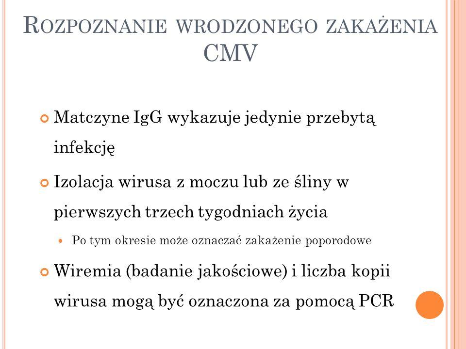 Rozpoznanie wrodzonego zakażenia CMV