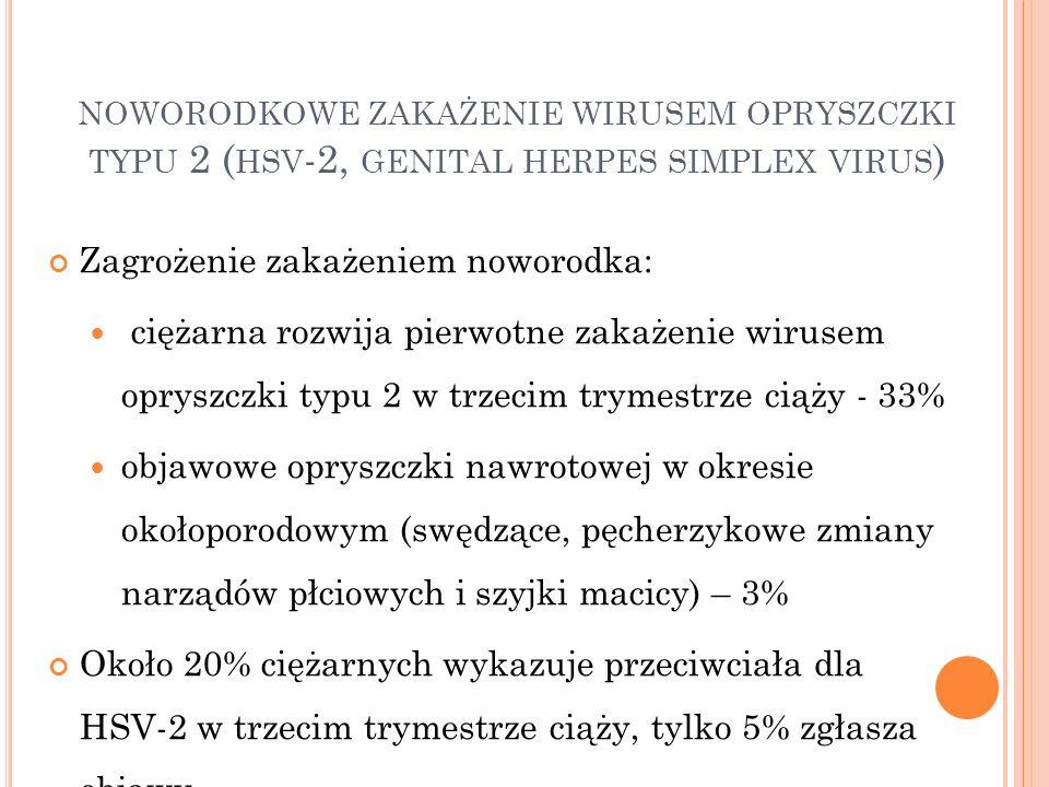 noworodkowe zakażenie wirusem opryszczki typu 2 (hsv-2, genital herpes simplex virus)