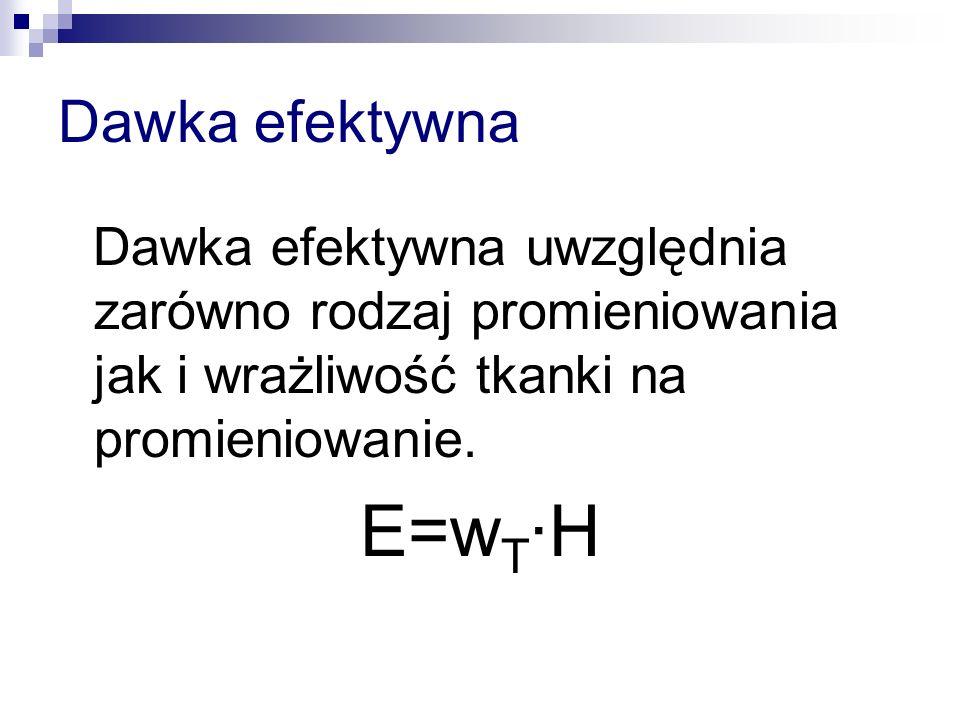 E=wT·H Dawka efektywna