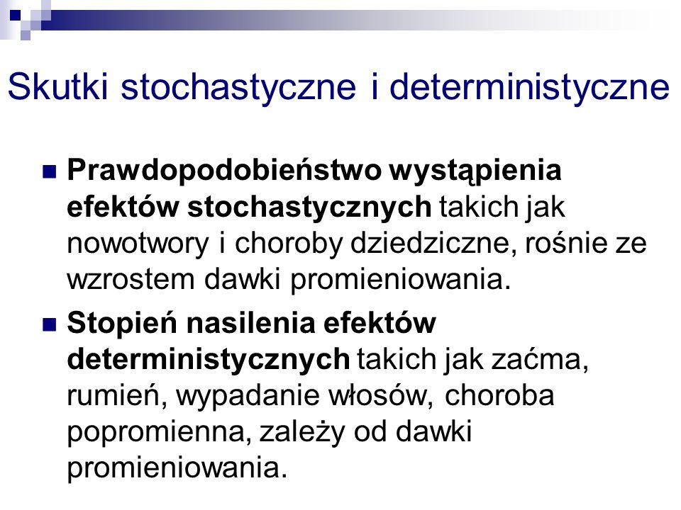 Skutki stochastyczne i deterministyczne