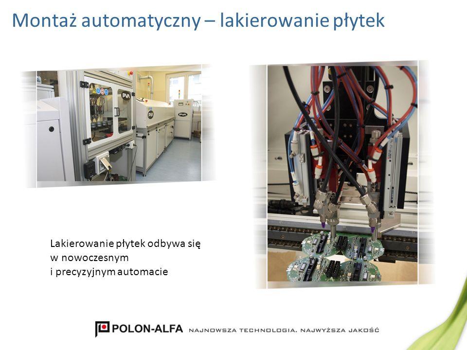 Montaż automatyczny – lakierowanie płytek