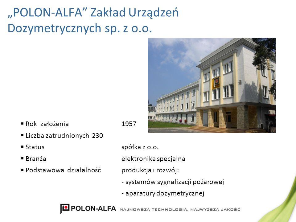 """""""POLON-ALFA Zakład Urządzeń Dozymetrycznych sp. z o.o."""