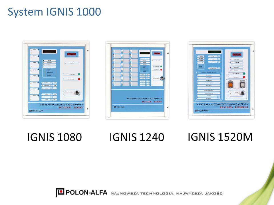 System IGNIS 1000 IGNIS 1240 IGNIS 1080 IGNIS 1520M