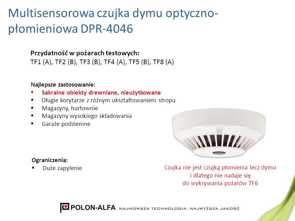 Multisensorowa czujka dymu optyczno-płomieniowa DPR-4046