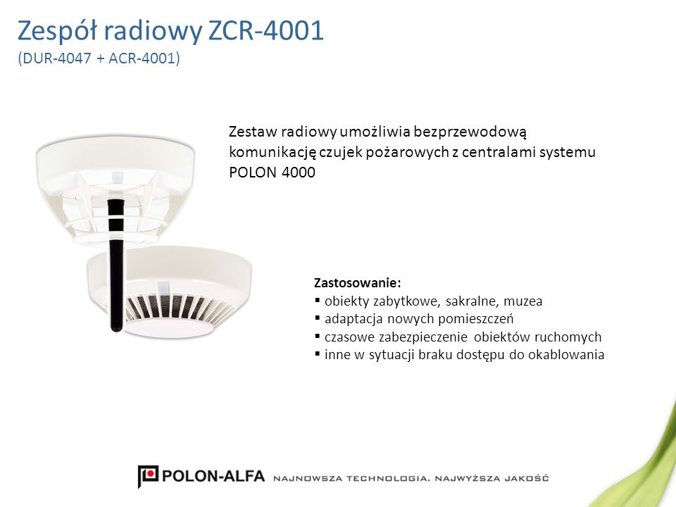 Zespół radiowy ZCR-4001 (DUR-4047 + ACR-4001)