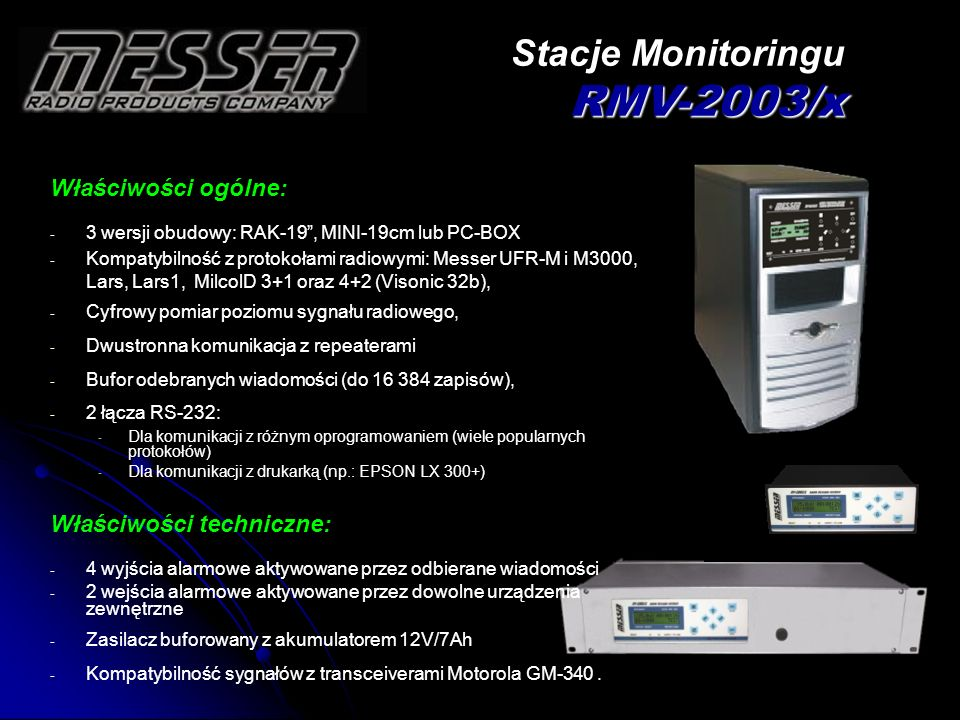 Stacje Monitoringu RMV-2003/x