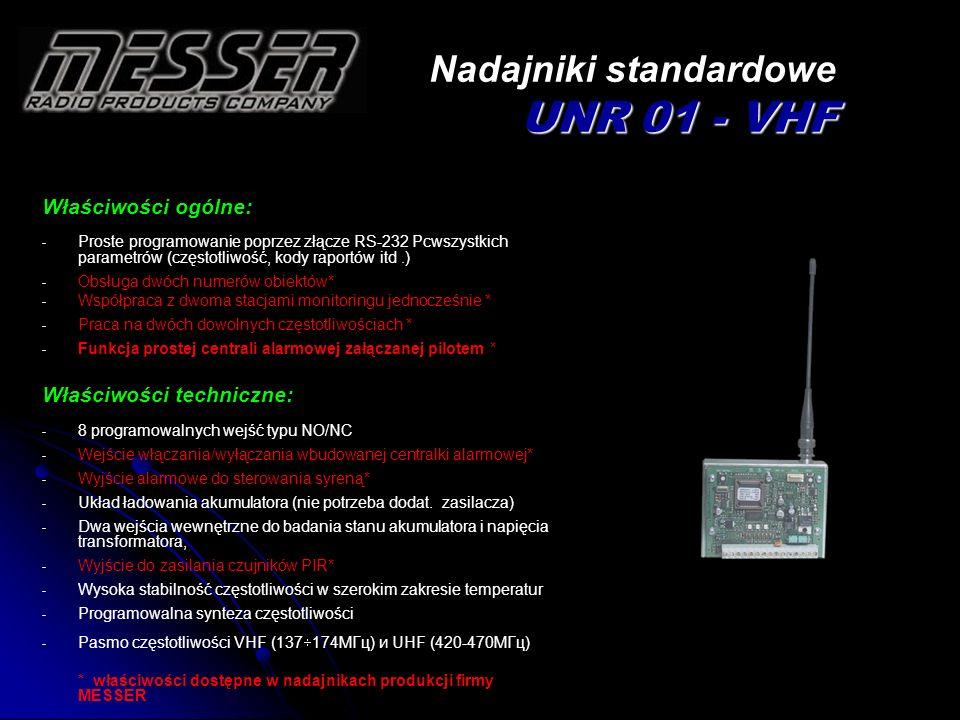 Nadajniki standardowe UNR 01 - VHF