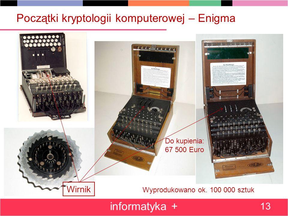 Początki kryptologii komputerowej – Enigma