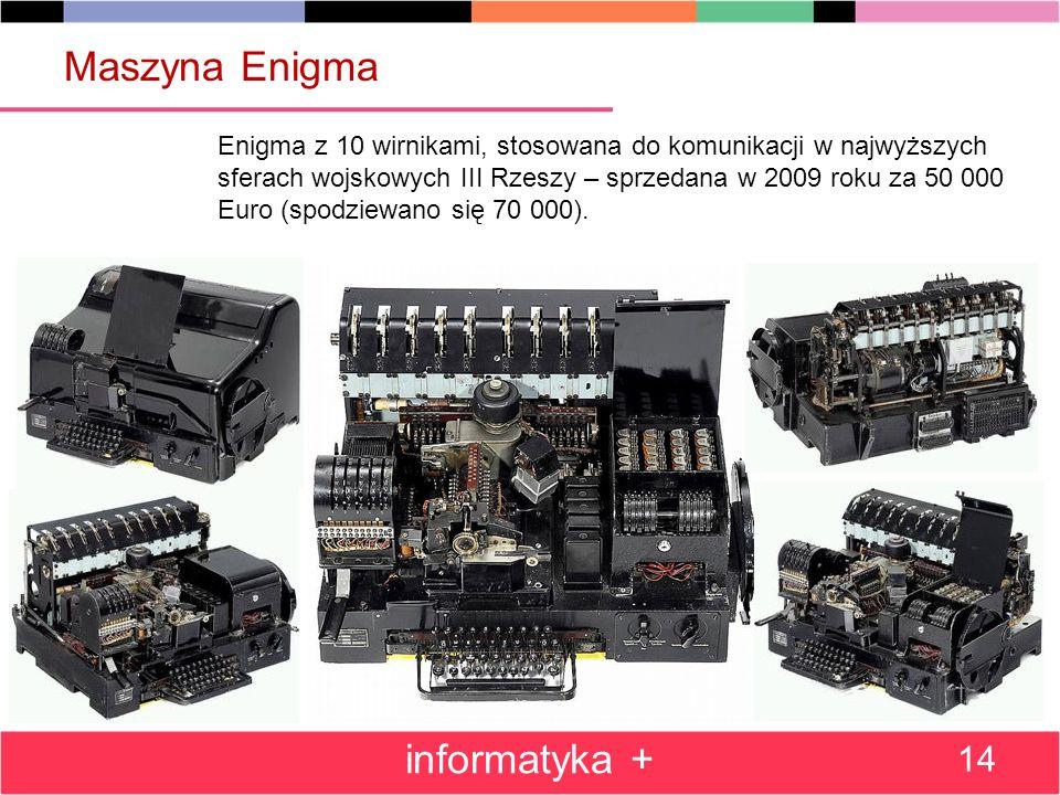 Maszyna Enigma informatyka +