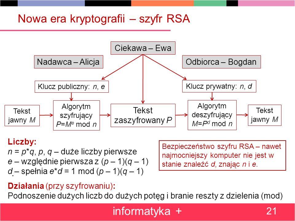 Nowa era kryptografii – szyfr RSA