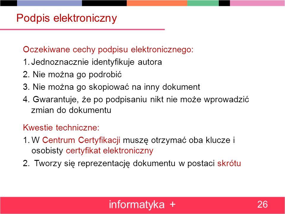 Podpis elektroniczny informatyka +
